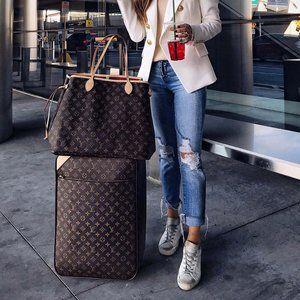 Authentic LOUIS VUITTON Travel Pegase 55 Suitcase